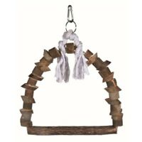 Trixie Natural Living Arch Swing, 15 x 20cm - Swing Bird Rope Wooden Perch