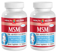 MSM Detox - MSM 1000 - Cleanses Body From Toxins - Increases Blood Flow - 2 Bot