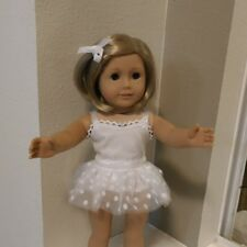 Fits 18 inch AMERICAN GIRL DOLL ~ TUTU White Silver ~ HANDMADE DOLL CLOTHES 4818