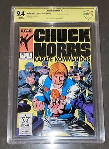 CHUCK NORRIS SIGNED CHUCK NORRIS KARATE KOMMANDOS #1 COMIC BOOK CBCS 9.4 NOT CGC