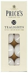 Prices Tealights Box White X10