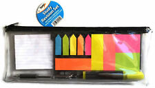 Study Revision Set Cards Stationary Pens Sticky Notes Students Kids Exams