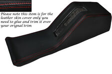 RED STITCH CENTRE CONSOLE HANDBRAKE HOUSING LEATHER COVER FITS BMW E28 81-88