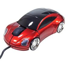 KIDS FUN KARZ RED MOUSE WIRED USB OPTICAL PC CAR LAPTOP NOVELTY CHILDREN