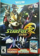Star Fox Zero + Bonus StarFox Guard US NTSC Release WiiU Wii U Factory Sealed