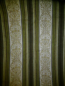 Vintage Antique Georgian Regency Stripe Upholstery Fabric Wallpaper Curtains