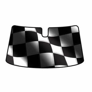 Intro-Tech Racing Flag Windshield Sun Shade for Hyundai 2010-2016 Genesis Coupe