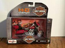 HARLEY-DAVIDSON MOTOR CYCLES [ H-D CUSTOM SERIES 34 ] MAISTO PLASTIC TOY, 1:18