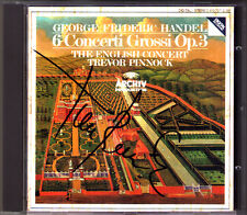 Trevor PINNOCK Signed HANDEL Concerti Grossi Op.3 No.1-6 CD The English Concert