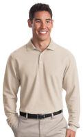 Port Authority Tall Men's Long Sleeve 100% Cotton Pique Polo Shirt. TLK800LS