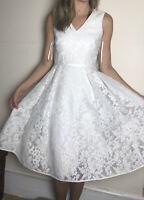 Beautiful Ted Baker Princess Petal Ballerina Dress Lace White Floral 0 Uk 6