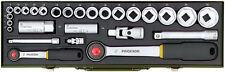 "Serie bussola Compact, cricco da 3/8"" 24 pz. Proxxon 23110"