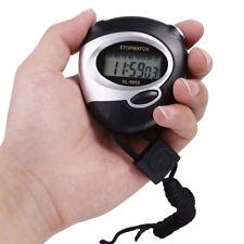 Handheld Timer Running Digital Sports Stopwatch Clock Count Down Alarm