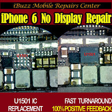 iPhone 6 6+ Plus NO DISPLAY IMAGE U1501 IC CHIP REPLACEMENT REPAIR SERVICE