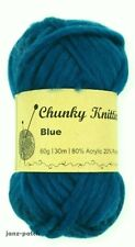 Knitting Crochet Yarn thick soft Super Bulky 5 x 60g - Teal Blue - 30m