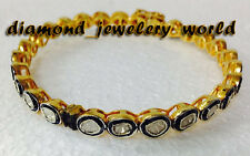Amazingly Vintage Style 1.75ct Natural Antique Cut Diamond Silver Bangle Jewelry