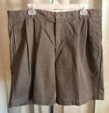 Bill Blass Casuals Mens Khaki Pleated Shorts Sz 38