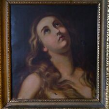 19th Century Antique Oil On Canvas Painting - Master Portrait Of Mary
