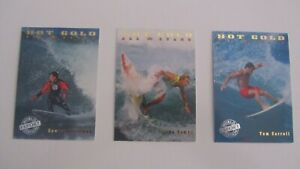 "1994 Futera HOT GOLD SURF Trading Cards ""EXPORT"" All Stars x 3"