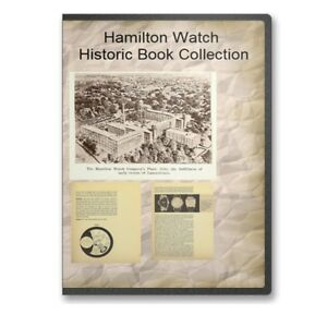 Hamilton Electric Watch Service Repair Manual + Watch History - 3 Books CD B497