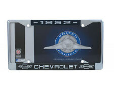 "1952 ""Chevrolet"" License Plate Frame Chevy Bowtie Officially GM Licensed Chrome"