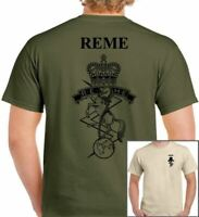 REME T-Shirt British Army Forces Military TA TOP TEE Cap Badge Beret