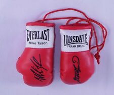 Autographed Mini Boxing Gloves Mike Tyson V Frank Bruno
