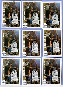 LOT OF 9 1992-93 NBA HOOPS SHAQUILLE SHAQ O'NEAL #442 RC ROOKIE CARDS MAGIC