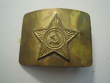 """FIBBIA PER CINTURONE VINTAGE """" CCCP """" SOVIET FALCE E MARTELLO COMUNISTA  (CIG)"""