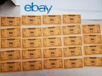 Monopoly Money (Lot of 24) 5 Million Dollars Game Cash Poker Replacement Pieces