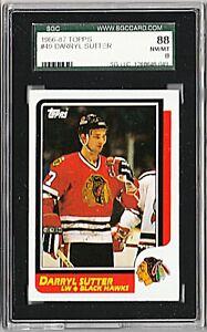 1986-87 TOPPS #49 DARRYL SUTTER Chicago Blackhawks Card GRADED SGC 8.0 NM/MT