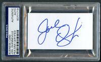 Joel Quenneville signed autograph Business Card Chicago Blackhawks PSA Slabbed