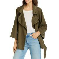 Current/Elliott Womens Linen Blend Belted Casual Utility Jacket Coat BHFO 3717