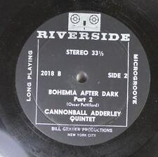 Jazz 33 Rpm 45 Cannonball Adderley Quintet - Bohemia After Dark Part 2 / Boh