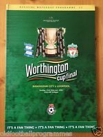 2001 WORTHINGTON CUP FINAL PROGRAMME *(BIRMINGHAM CITY V LIVERPOOL)*