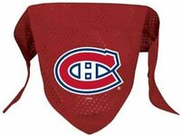 NEW MONTREAL CANADIENS PET DOG MESH HOCKEY JERSEY BANDANA ALL SIZES LICENSED