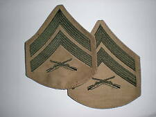 USMC CORPORAL RANK GREEN/KHAKI -1 PAIR