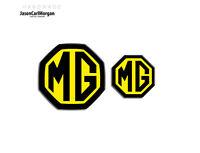 MG ZT LE500 MK1 Saloon Badge Front Rear Insert Emblem Set 59mm 40mm Black Yellow