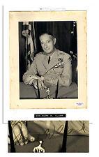 General Mark W. Clark Signed 8'' x 10'' Photo JSA