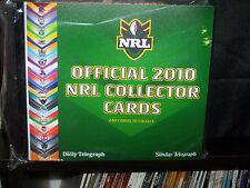 NRL COLLECTOR CARDS AND BINDER  - 2010 - COMPLETE SET
