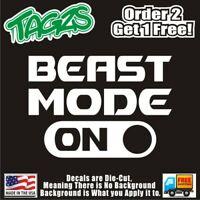Beast Mode On Funny DieCut Vinyl Window Decal Sticker Car Truck SUV JDM
