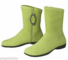 Dexter Estate Ladies Lime Green Suede Kidskin Leather Ankle Boots Size 9.5 M