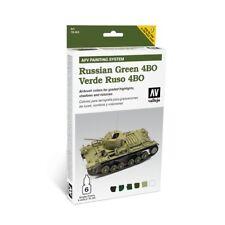 AV Vallejo AFV Armour Russian Green 4BO Acrylic Paint Set # 78403
