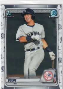 2020 BOWMAN CHROME 1ST RC ANTHONY VOLPE NEW YORK YANKEES FIRST ROOKIE - Z682