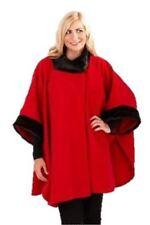 Cappotti e giacche da donna poncho nero in pelliccia
