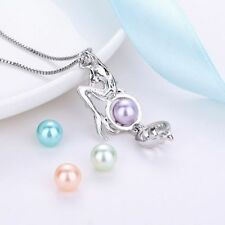 Girl Freshwater Pearls Pearl Cage Mermaid Necklace Pendant Chain