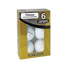 6 TITLEIST Refinished Reclaim Used Lake Golf Balls