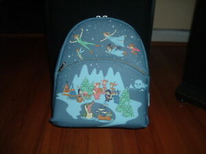 LOUNGEFLY DISNEY PETER PAN STAR NITE MINI BACKPACK~ WITH TAGS~BRAND NEW~