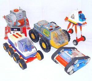 DSK Alps Tomy Japan APOLLO II DELTA 55 SPACE & MOON VEHICLE Tin Toy Job Lot `65!