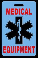 Sky Blue Medical Equipment Carry-On Bag Tag - CPAP BiPAP APNEA POC